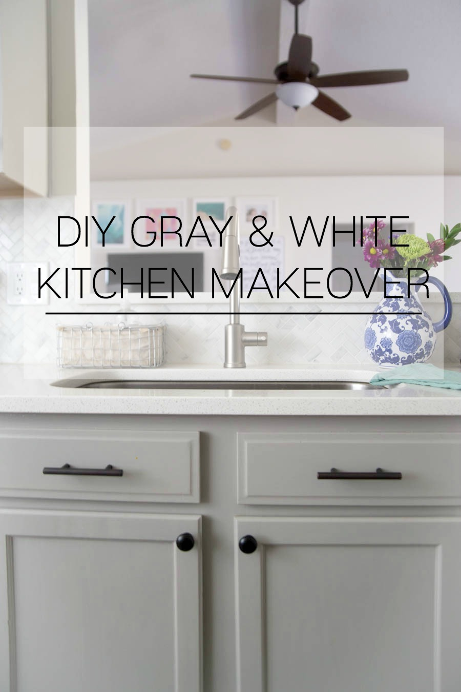 gray and white kitchen makeover   making home base  rh   makinghomebase com