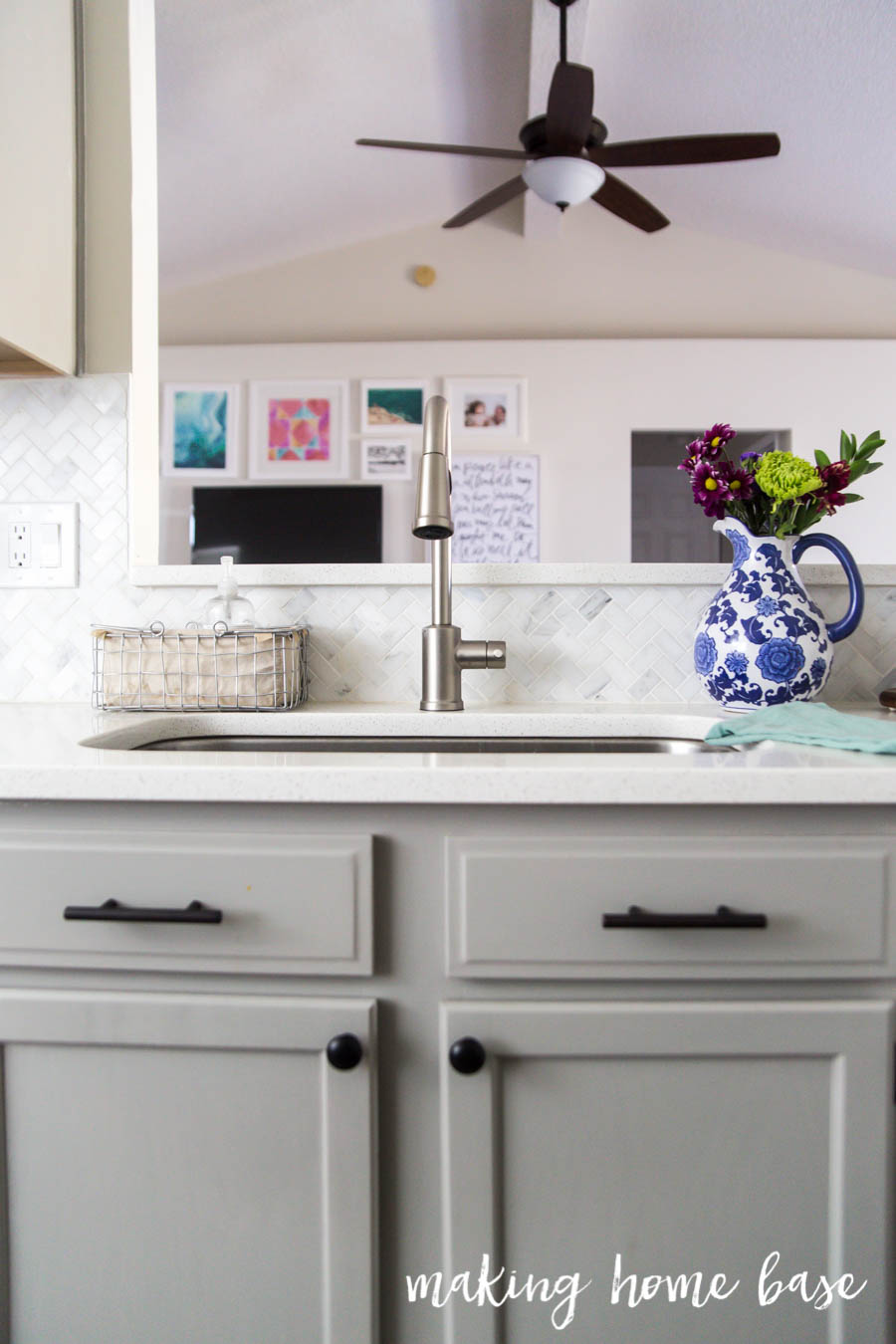 Gray and White Kitchen Makeover