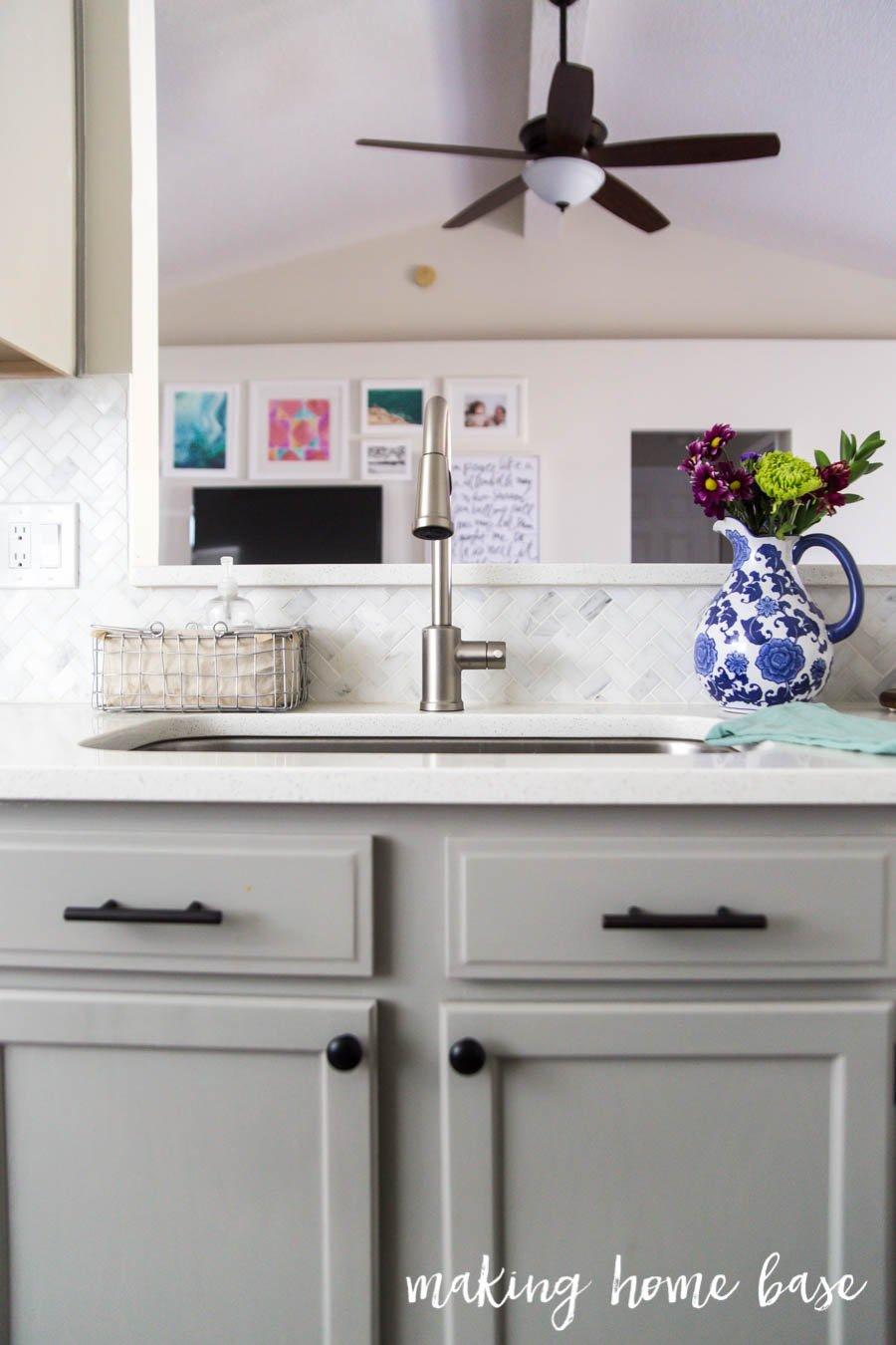 Gray and White Kitchen Makeover