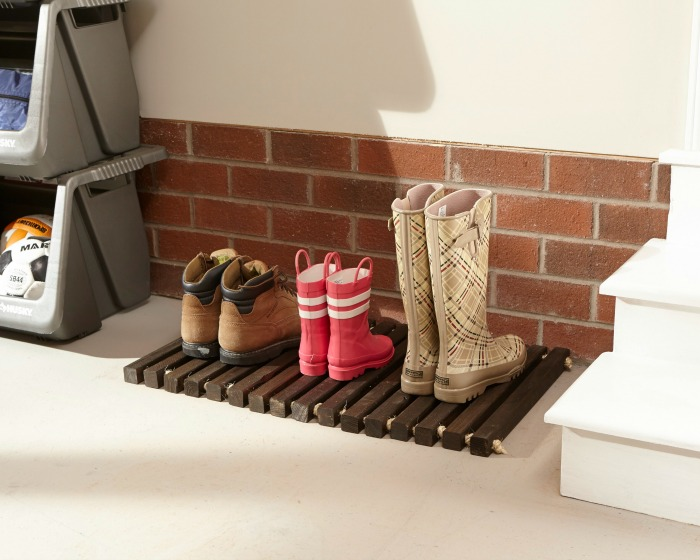 DIY Workshop wooden doormat