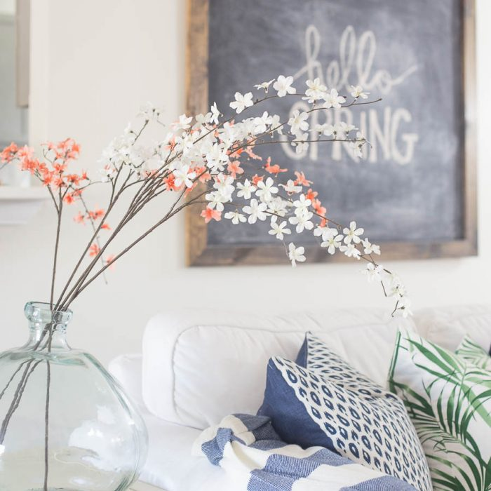 Living Room Spring Decorating