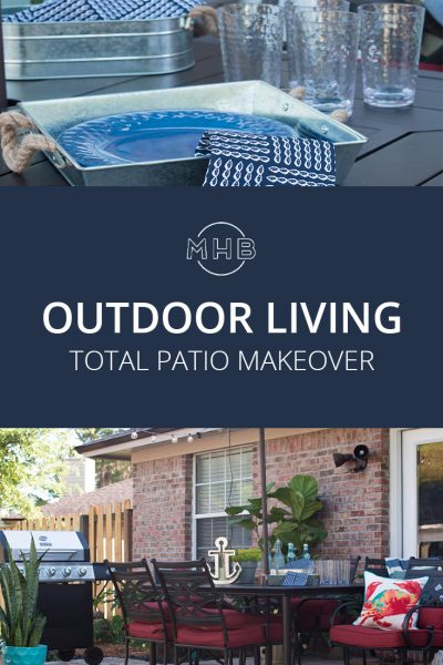Outdoor Living Patio Makeover - This is such an achievable outdoor living space.