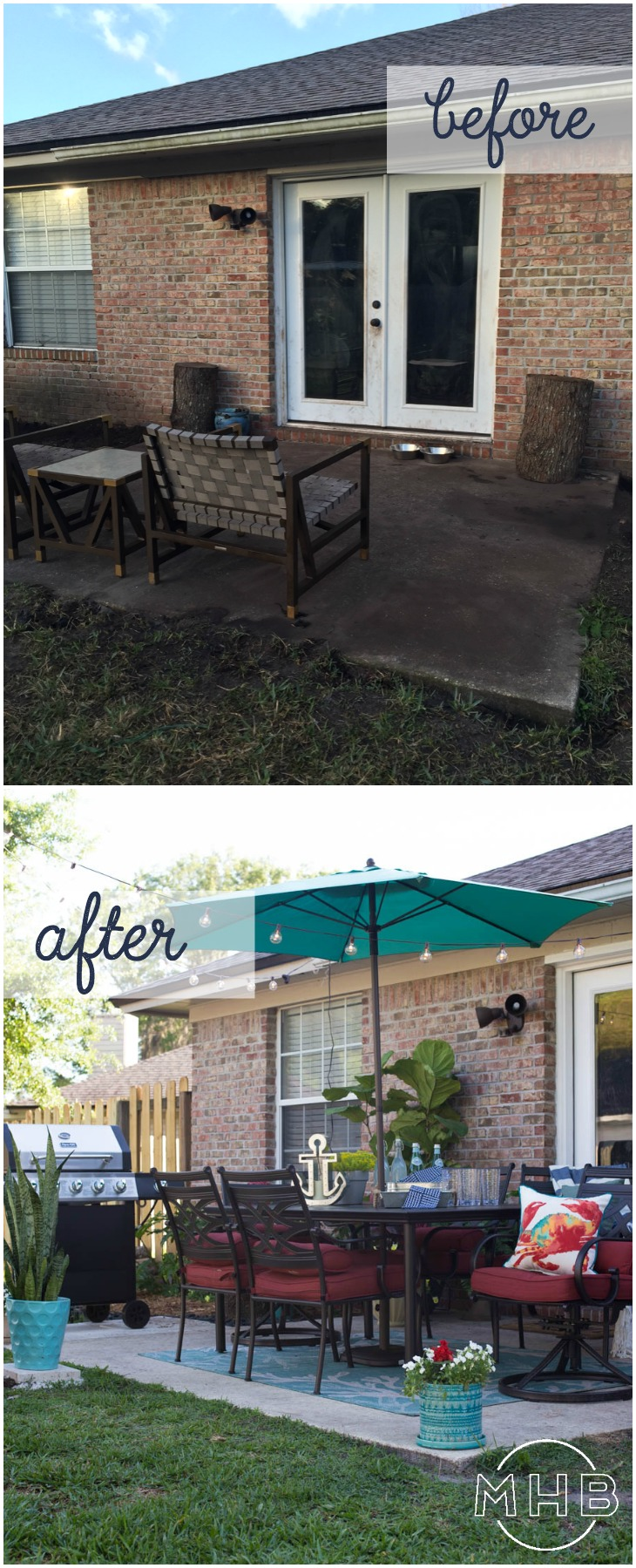 Achievable Outdoor Living Space - Complete Patio Makeover on Outdoor Patio Makeover id=93410