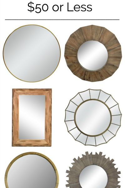 Stylish Wall Mirrors for $50 or less. These are all gorgeous!