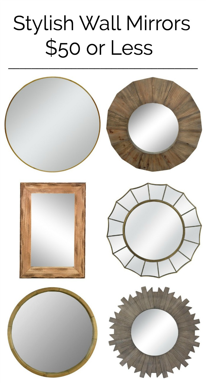 Stylish wall mirrors for less than 50 making home base stylish wall mirrors for 50 or less these are all gorgeous amipublicfo Images