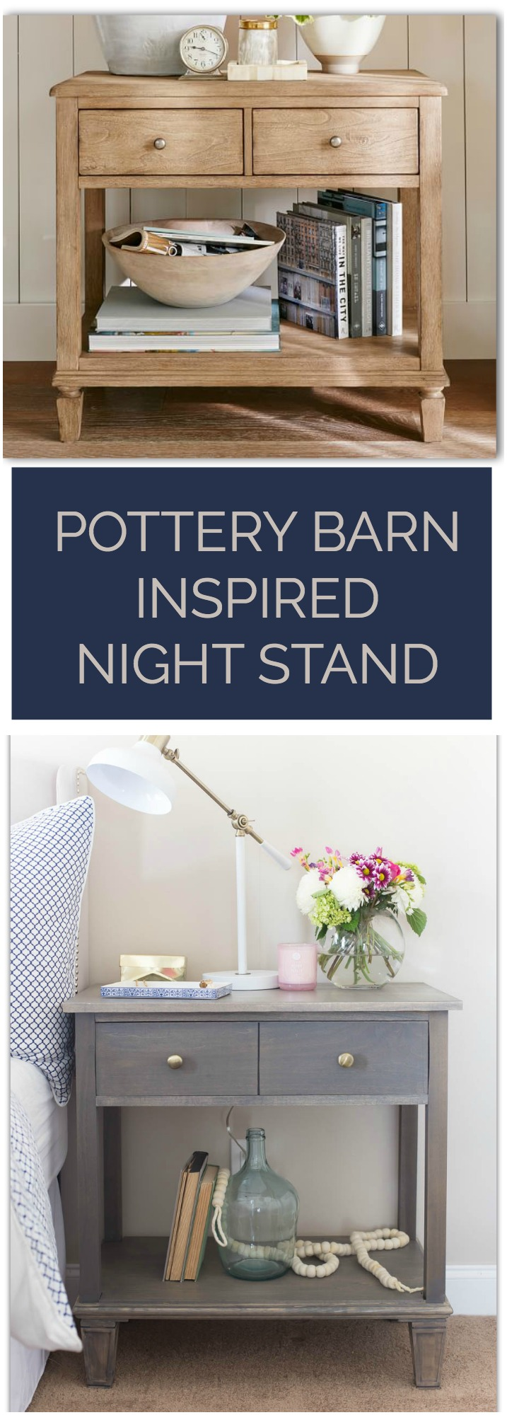 Pottery Barn Inspired Nightstand