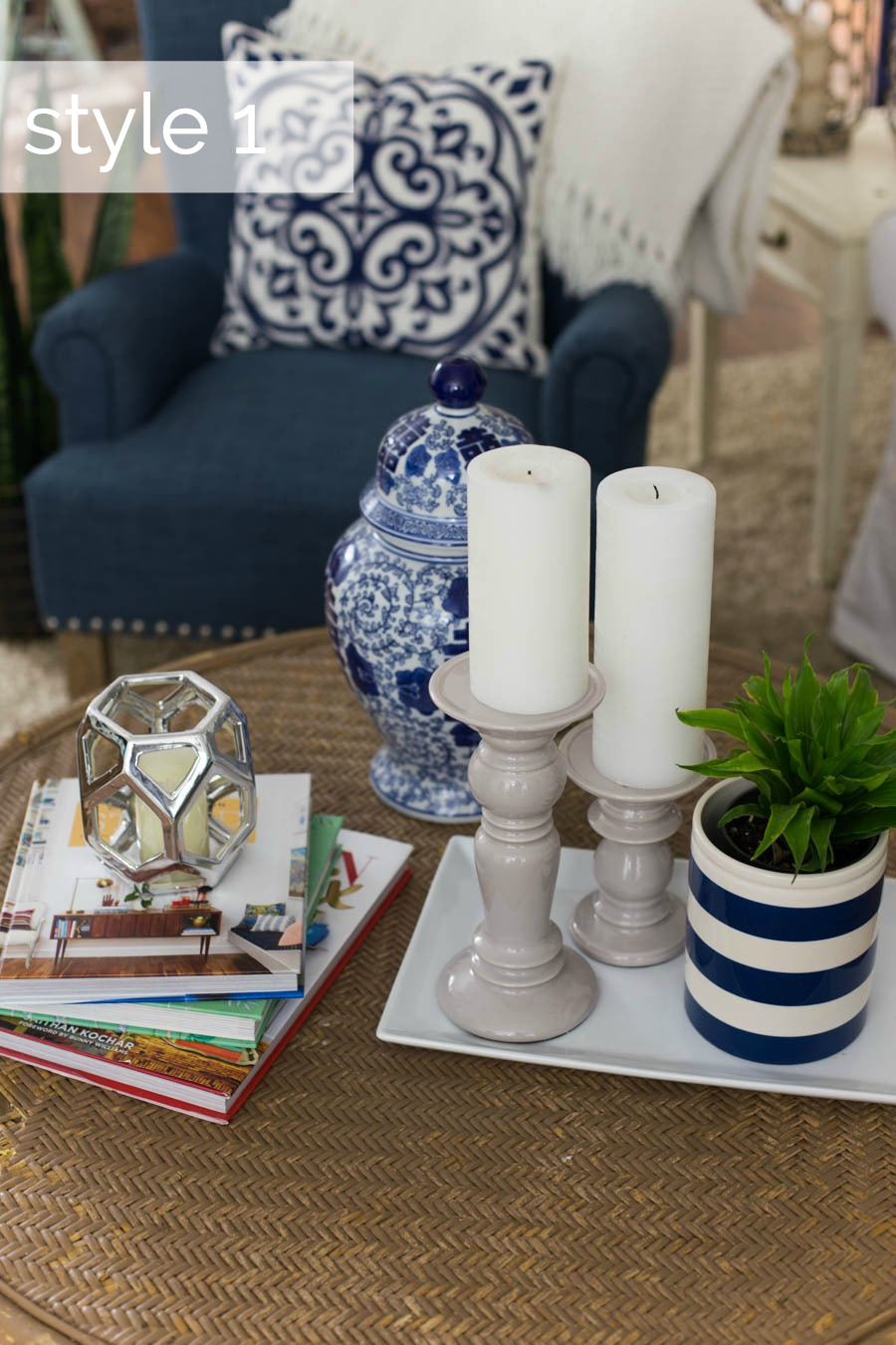 Coffee Table Styling Three Ways Style 1
