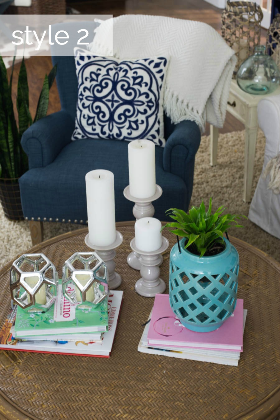 Coffee Table Styling Three Ways Style 2