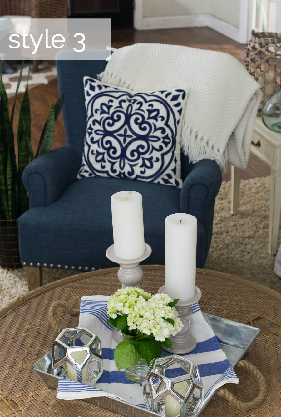 Coffee Table Styling Three Ways Style 3