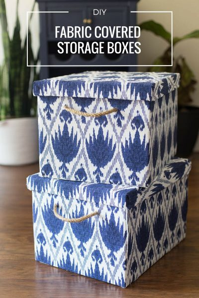 DIY Fabric Storage Boxes from Bankers Boxes