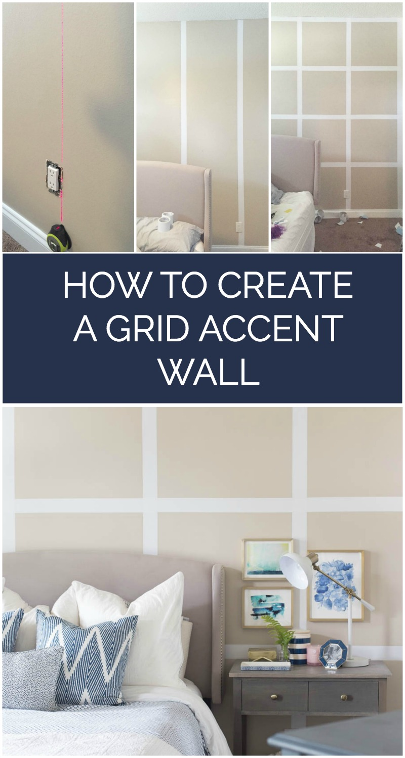 How to Create a Grid Accent Wall - A step by step tutorial