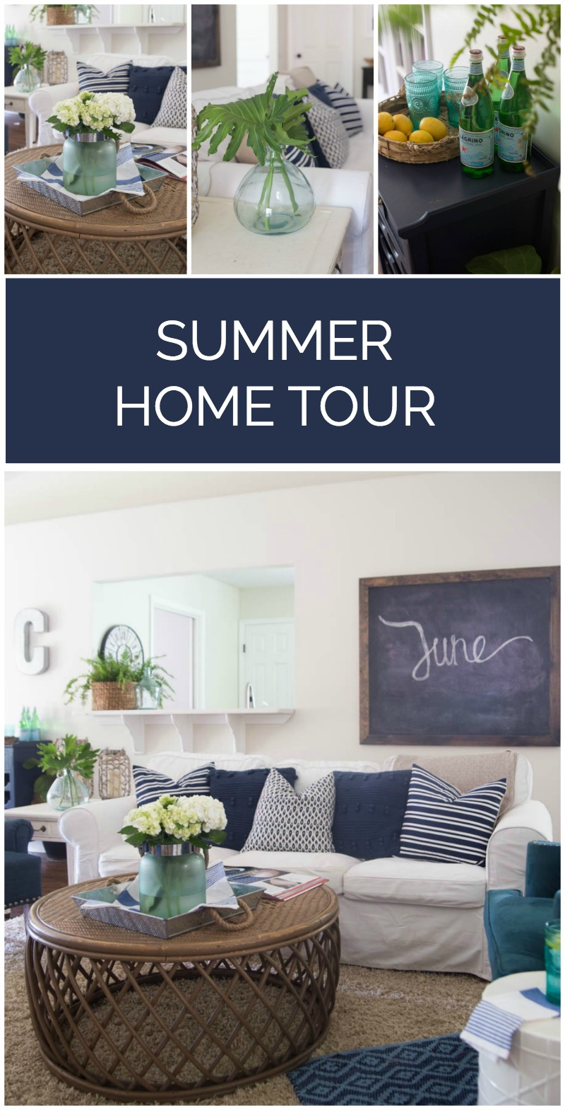 Summer Home Decor Ideas Part - 30: Summer Decorating Ideas - A Home Tour