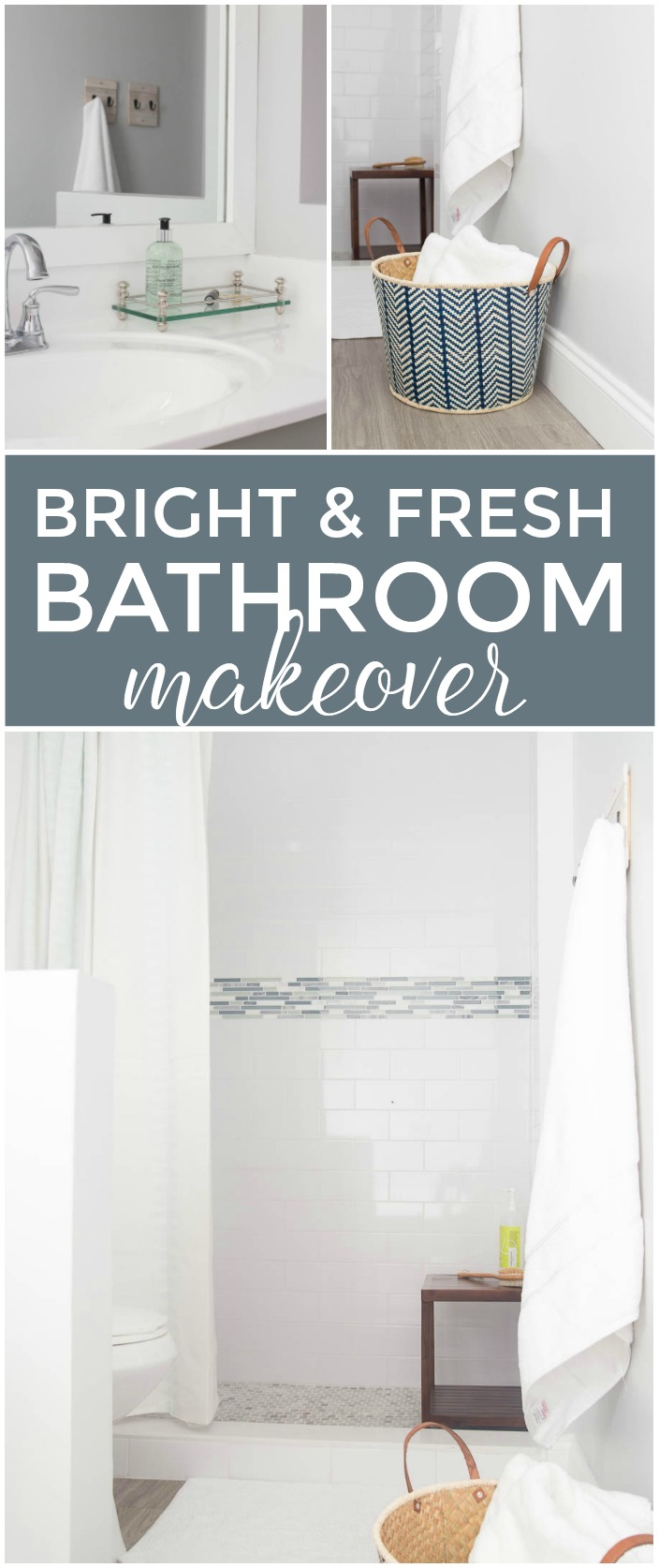 Bright and Fresh Master Bathroom Makeover