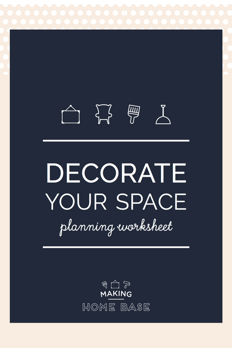 Decorate Your Space Planning Worksheet Download