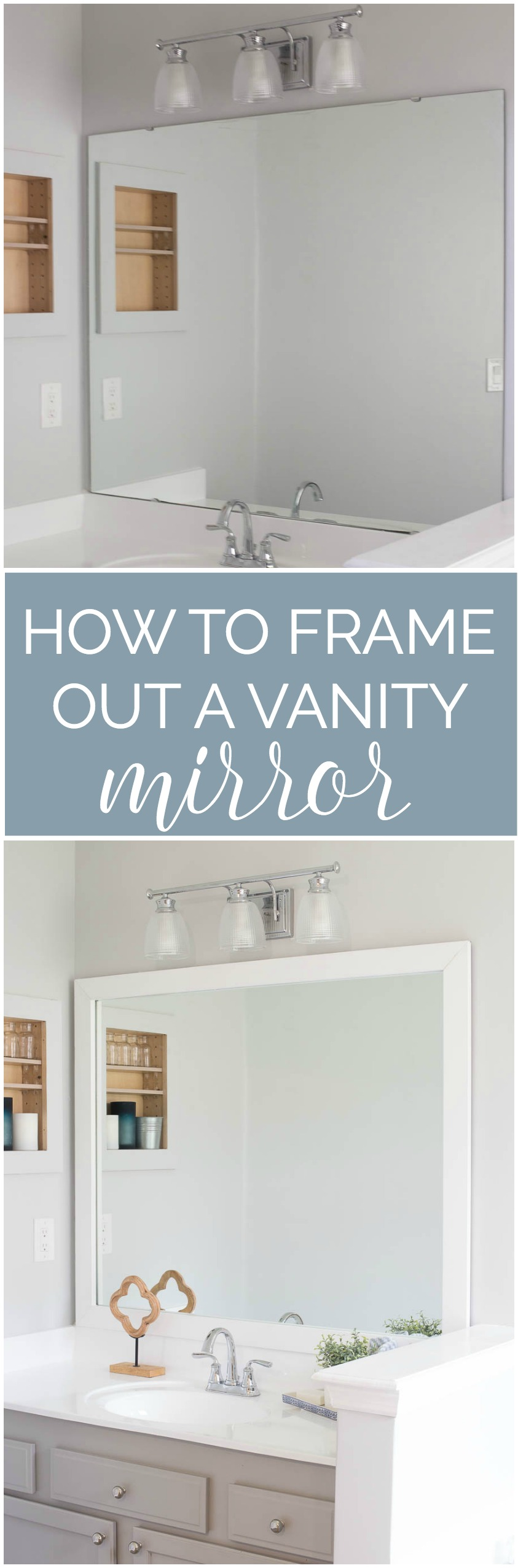 How to frame out your vanity mirror