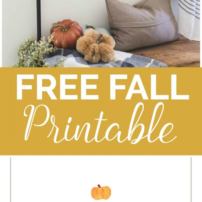 DIY Fall Sign – Free Printable