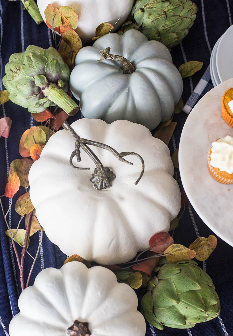 Gorgeous fall decorating inspiration in this fall home tour. The painted pumpkins are my favorite.