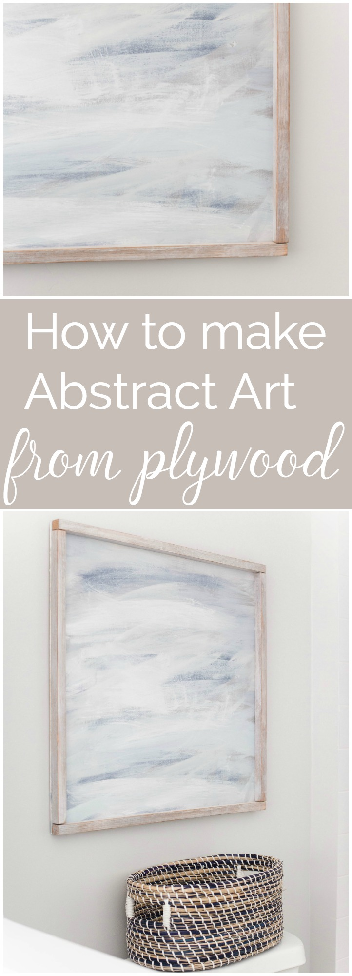 """How about making your own abstract art from PLYWOOD! Cheap, easy, beautiful! I gotta try this!"