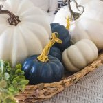 Painting Faux Pumpkins = Saving Money