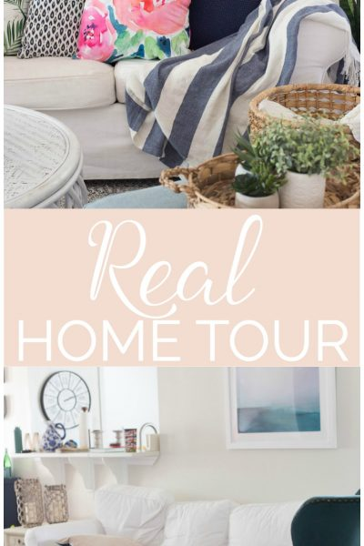 """Real Home Tour"" from some awesome bloggers! They show pictures of their real, lived in houses and I can totally relate! So fun!"