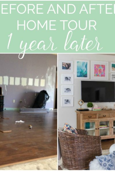 Before and After - 1 Year Home Tour