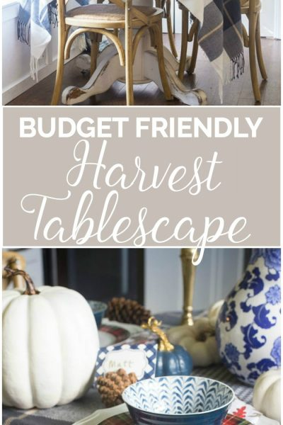 Budget Friendly Harvest Tablescape