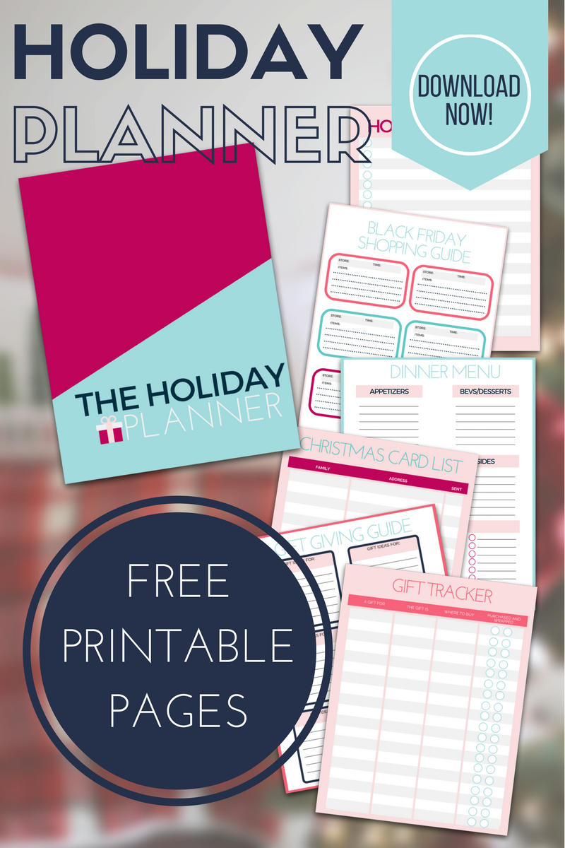 picture about Free Printable Christmas Planner titled Printable Family vacation Planner - Arrange Your Holiday vacation Developing