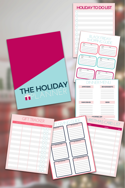 Free Holiday Planner - organize your holiday planning with this free printable