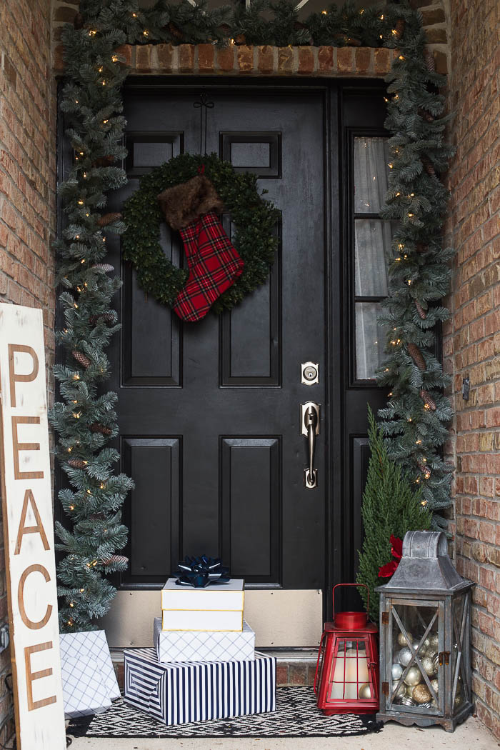 front porch christmas decor ideas 2 - Front Door Christmas Decorations Ideas