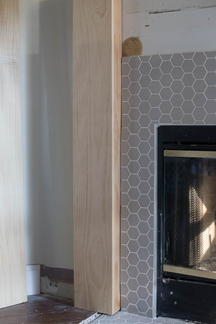 Fireplace Makeover How To Build A Fireplace Mantel And