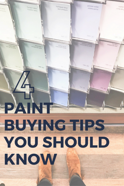 PAINT BUYING TIPS YOU SHOULD KNOW