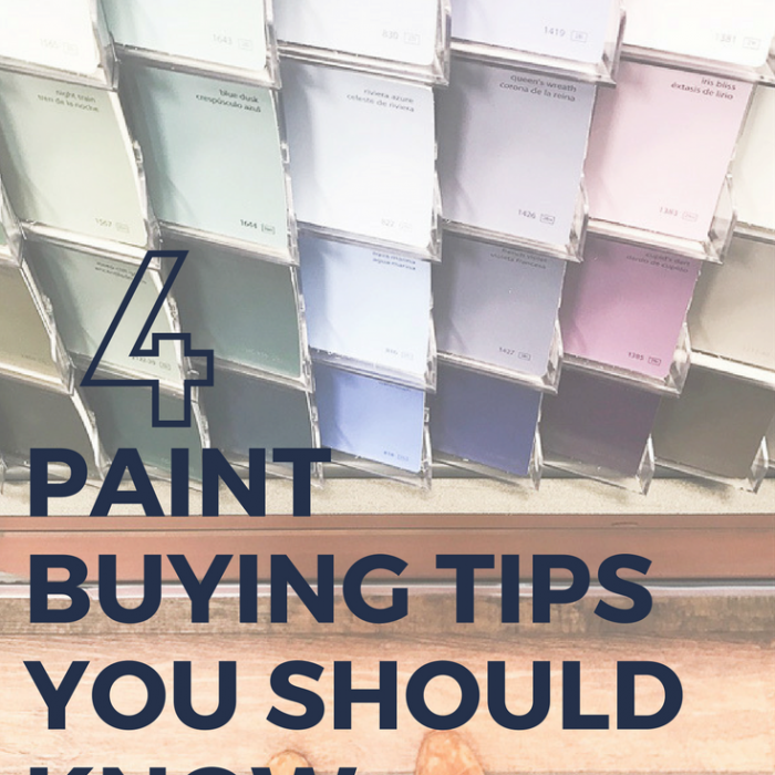 Four Paint Buying Tips You Need To Know