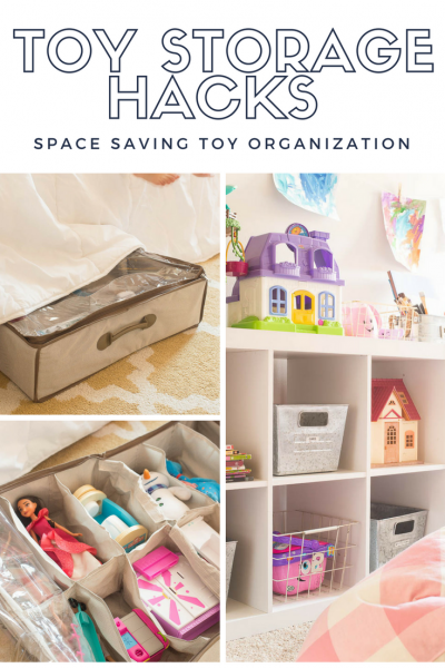 Toy Storage Hacks - Space Saving Toy Organization