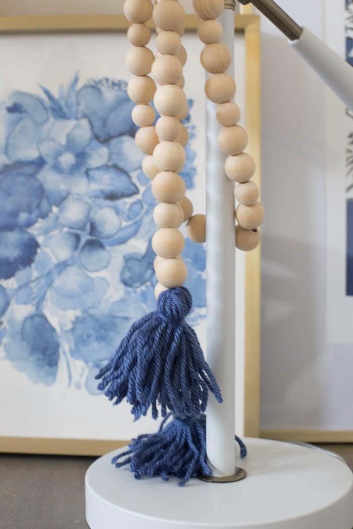 Diy Wood Bead Garland With Tassels Craft Tutorial