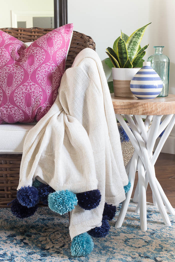 What Is A Throw Blanket Enchanting How To Make A DIY Pom Pom Throw Blanket For Cheap