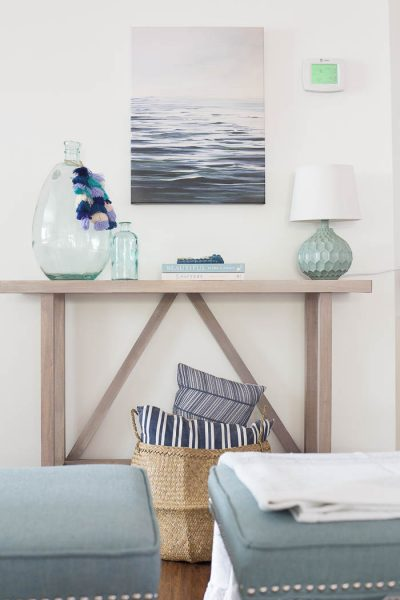 DIY Beachy Console Table - Create a gorgeous console table for less than $50