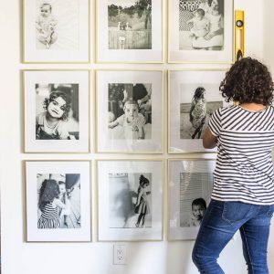 Grid Style Gallery Wall | DIY Friday
