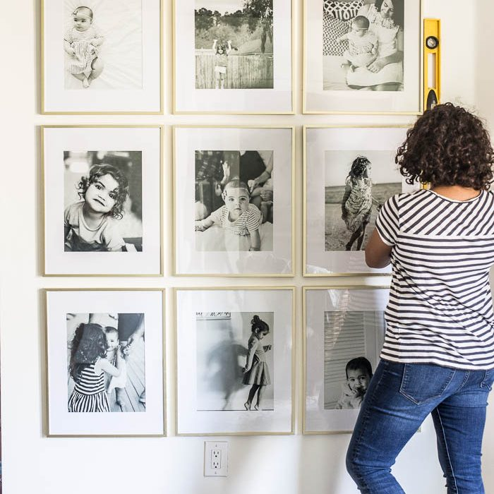 Grid Style Gallery Wall | DIY Friday
