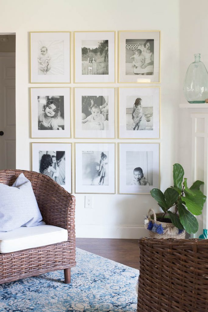 Grid Style Gallery Wall Easy Tips For Displaying Family