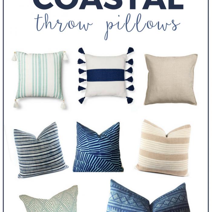 Modern Coastal Throw Pillows