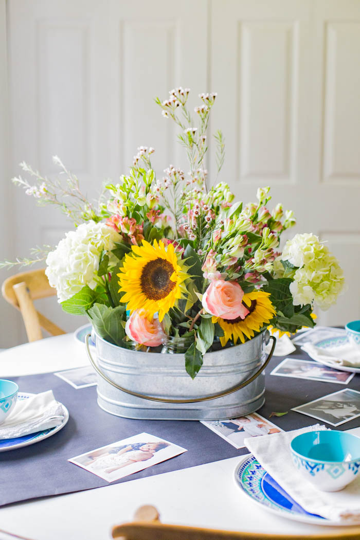 DIY Photo Centerpiece from Moms - how to create a meaningful centerpiece for Mother's Day