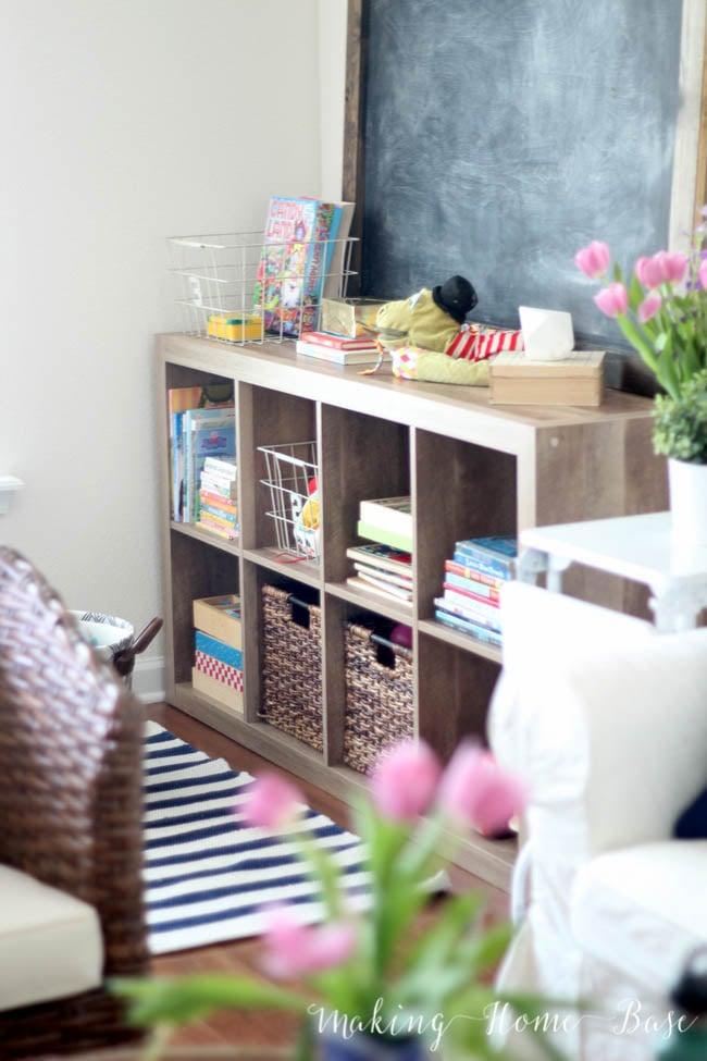 Apartment Decorating Ideas - Organizing kids toys