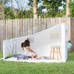Making a Kids Backyard Hideaway