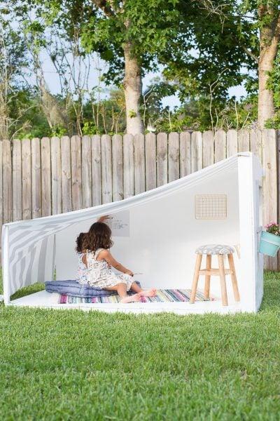DIY backyard hideout