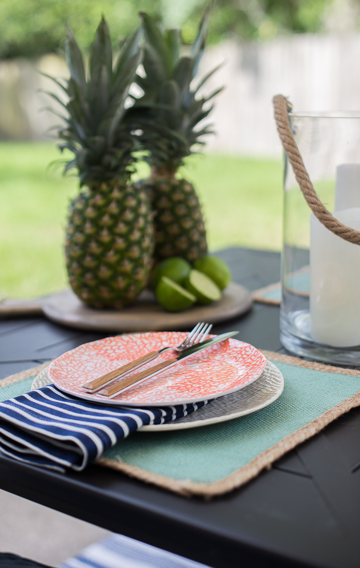 Coastal summer tablescape ideas