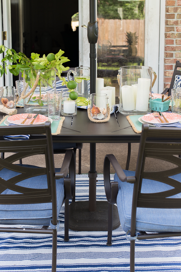 Beachy Summer Tablescape