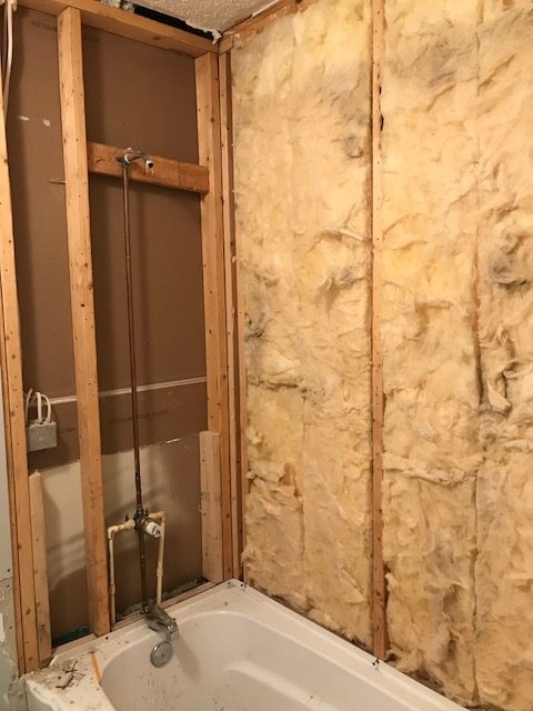 the plan for the bathroom was to rip out the surrounding tile faucet and shower head preserve the tub itself and retile the tub surrounding with white