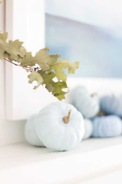 Coastal Fall Mantel - Decorating Ideas