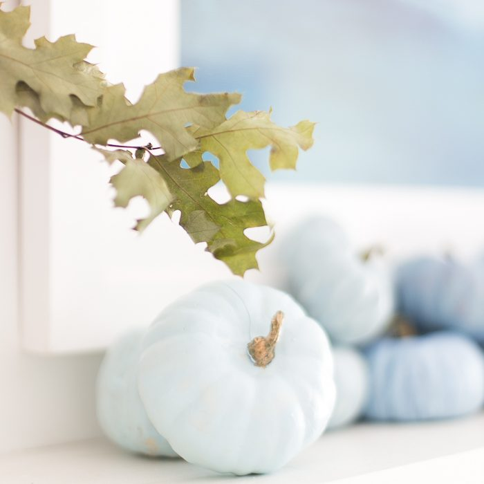 Coastal Fall Mantel Decor
