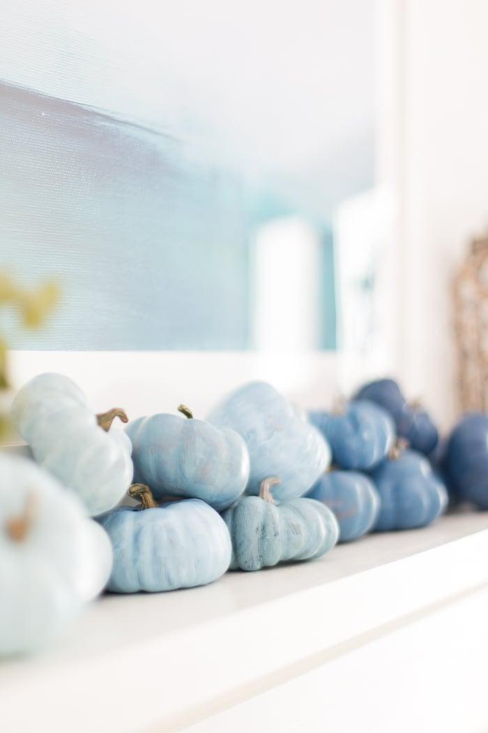 Blue Pumpkin Decor